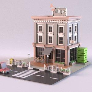3D shop antique model