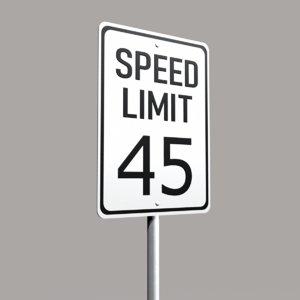 3ds street sign speed 01