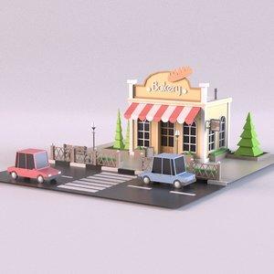 building bakery 3D
