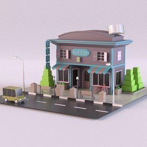 3D store book bookstore