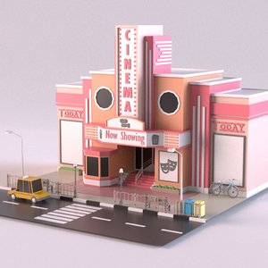 3D model building theater theatre