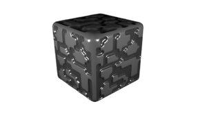 3D cobblestone block