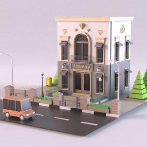 store jewelry 3D model