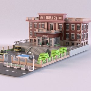 3D library01