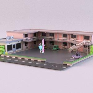building motel hotel 3D