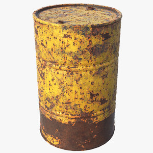 oil rusted drum model