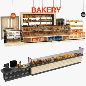 3D bakery stand