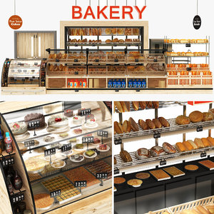 3D bakery display stand
