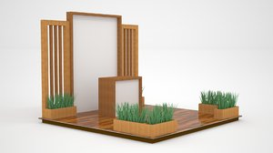 stand booth 3x3 model