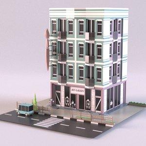 3D art gallery 02 model