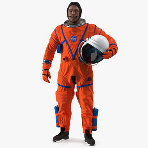 3D astronaut wearing aces suit model