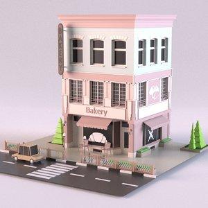 3D bakery 02 model