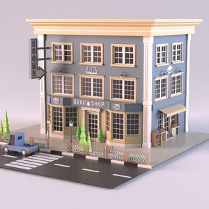 bookshop 02 3D