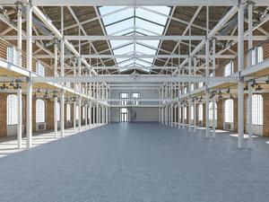 3D loft hall model