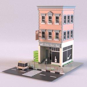 smokeshop 01 3D model
