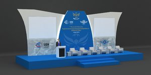3D model stage lectern