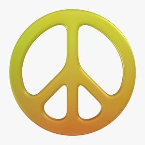 3D peace symbol 03