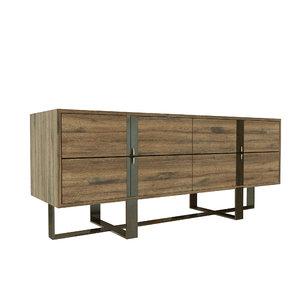 vanguard marcelus drawer chest 3D