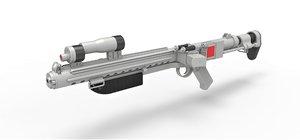 3D blaster rifle model