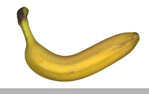banana fruits 3D model