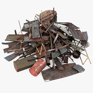 heap metal debris 3D model