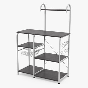 3D multipurpose kitchen bakers rack