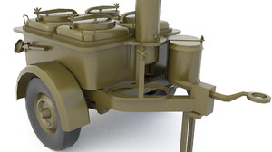 3D mobile kitchen military