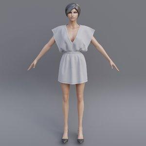 3D dress model