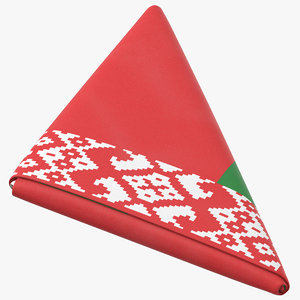 flag folded triangle belarus model