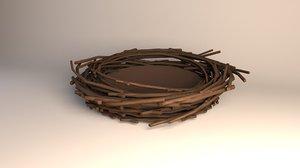 3D birds nest model