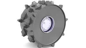 3D tire compactor model