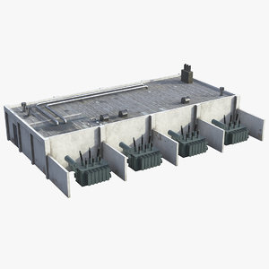 3D industrial building unit