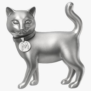 3D monopoly cat