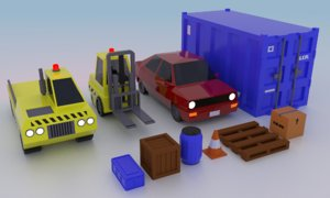 3D vehicles props
