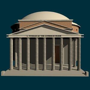 3D le rome antique du model