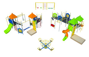 playground toy play 3D model