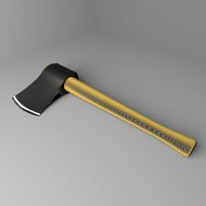 3D garden tool - axe model