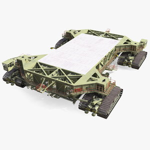 3D mobile launcher platform crawler model