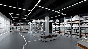 3D modern store