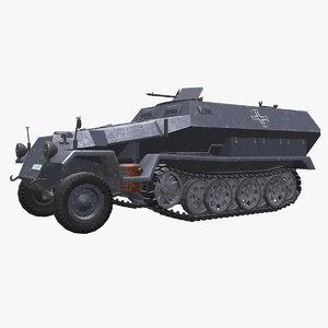 3D model sd kfz 251 german
