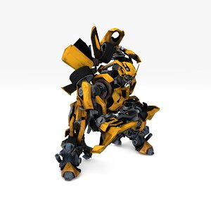 bumblebee rigged animate 3D model