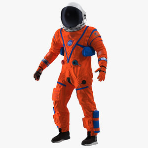 3D astronaut advanced crew escape model