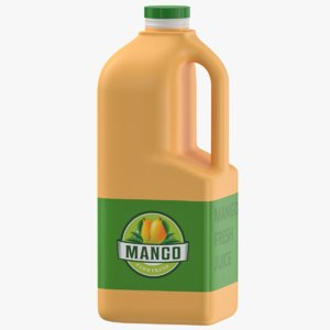 3D model mango juice jerrycan
