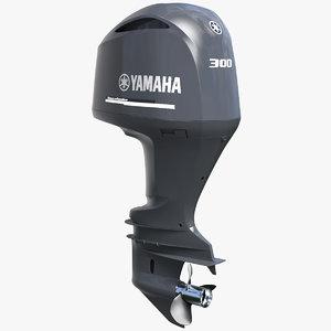 yamaha 350 v8 outboard motor 3D