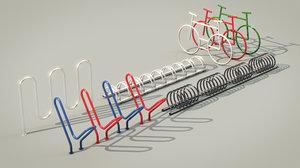 bike racks set 3D model