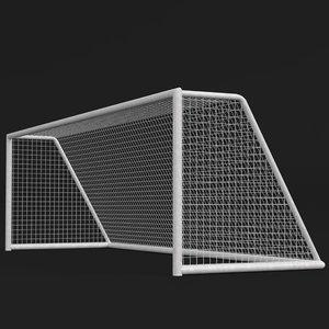 3d soccer goal 2 model
