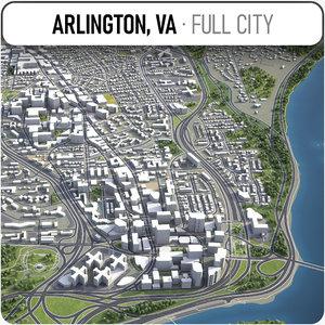 arlington surrounding - 3D model