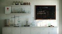 Vintage chemical laboratory
