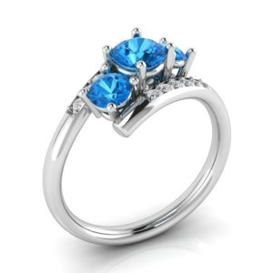 3D luxury bypass ring 3