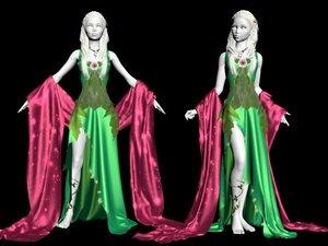 dress nymph fairy 3D